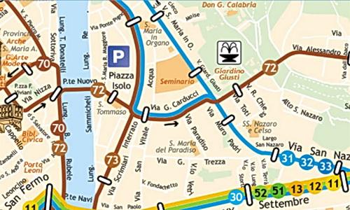 mappa autobus